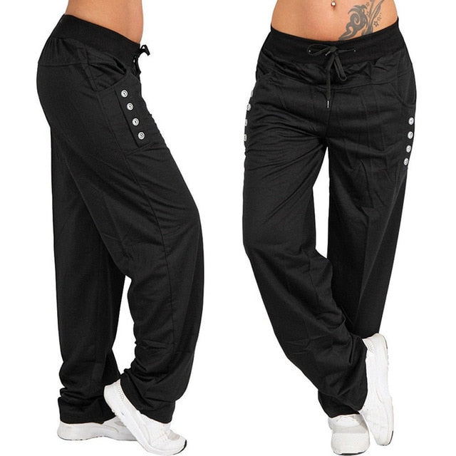Casual High Waist Oversized Pants