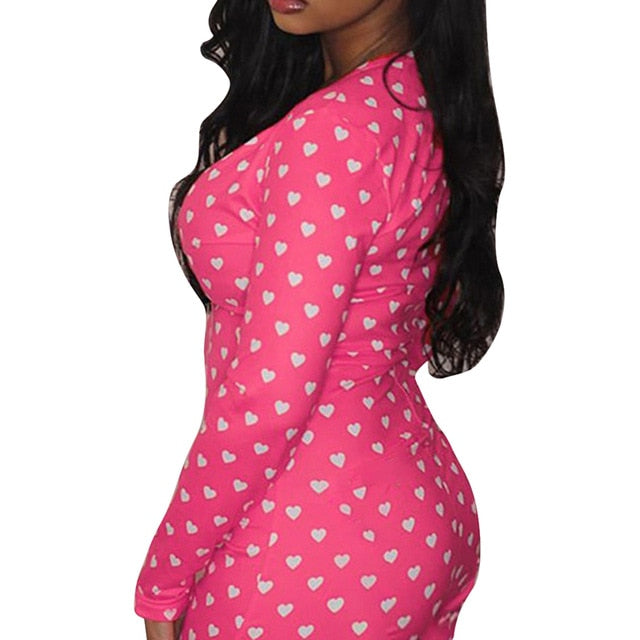 Plus Size Button Bodysuit Leotard Short Sleepwear