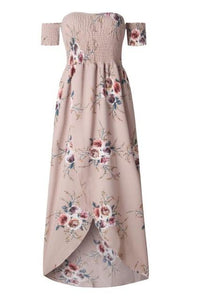 Rose Wine Boho Maxi Dress