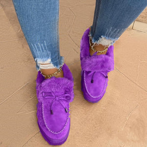 Winter Premium Fluffy Moccasins - 40% OFF Christmas Only!