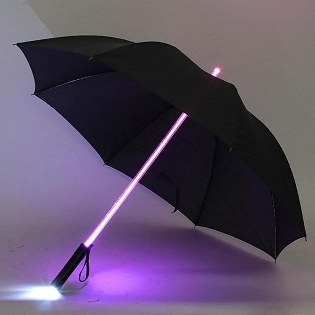 7 Color LED Light Up Umbrella - 70%OFF!