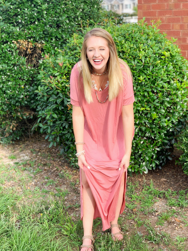 Nothing Better Maxi in Dusty Coral - The Ivy Exchange