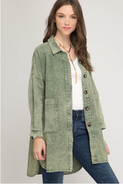 Button Me Up Denim Shirt - The Ivy Exchange