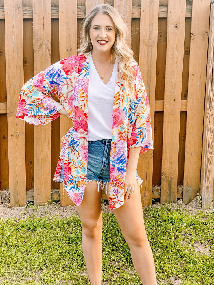 Day in the Sun Kimono - The Ivy Exchange