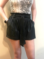 Brunch Date Shorts in Black - The Ivy Exchange