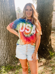 USA Tie Dye Tee - The Ivy Exchange