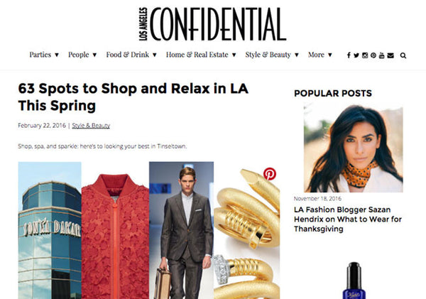 LA Confidential: Spots to Shop and Relax in LA