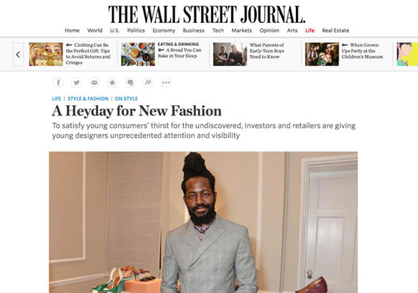 Wall Street Journal: Kristen Cole Interview - Emerging Designers