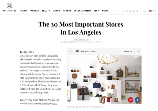 Refinery 29: Los Angeles Boutique Guide