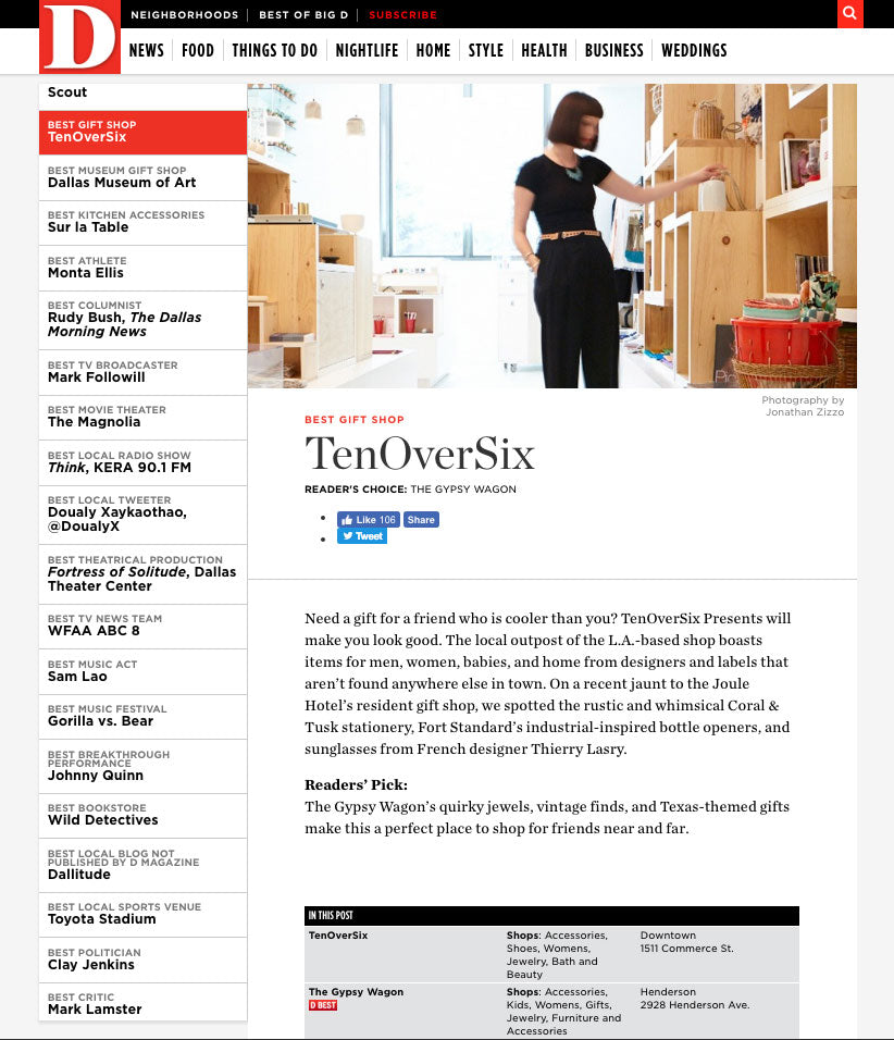 D Magazine: TenOverSix Dallas - The Best of Big D