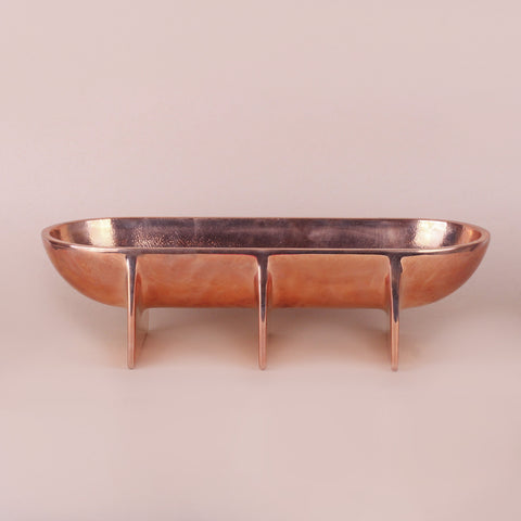 Large Standing Bowl, Copper
