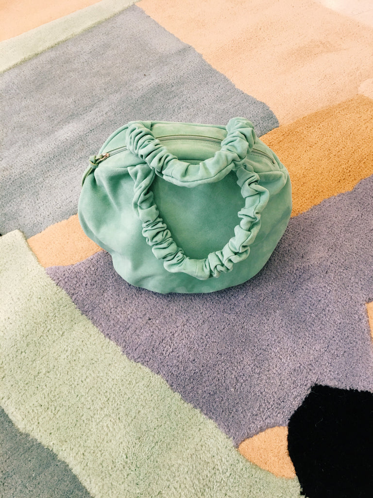 Margarita Bag, Mint Suede