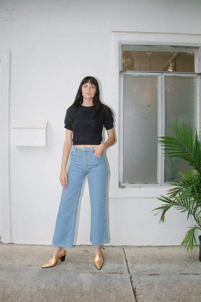 Wide Leg Jean, True Blue