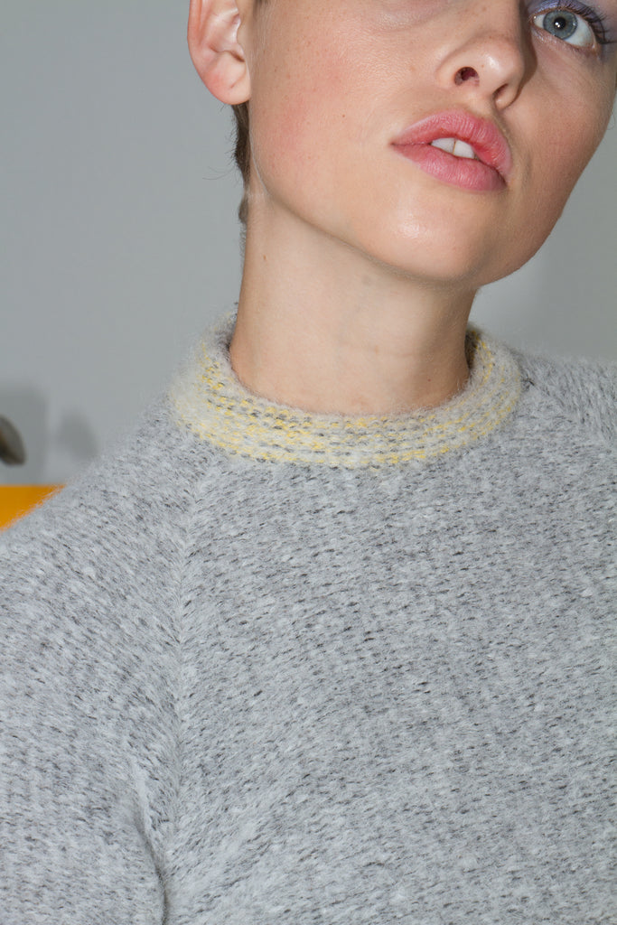 Raglan Sweater, Gray