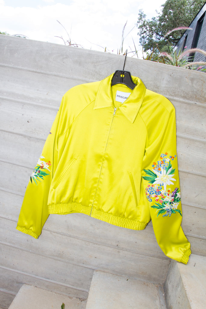 Silk Jacket, Chartreuse
