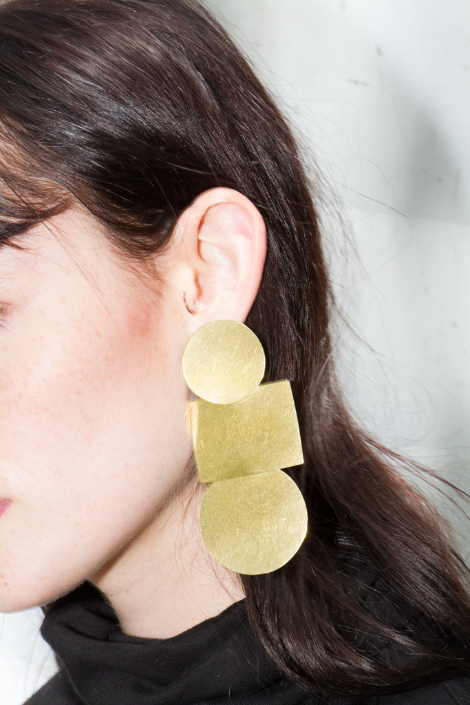 Popova Earrings, Gold