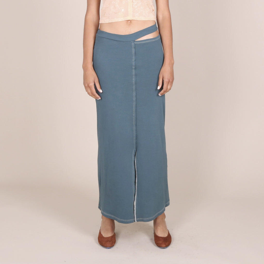 Lapped Skirt, Turquoise