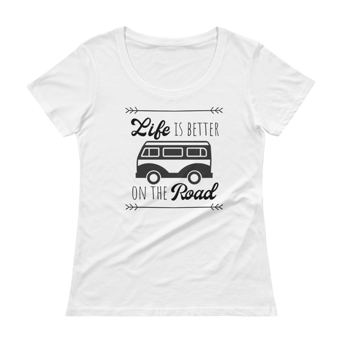 Life Is Better Scoopneck T-Shirt