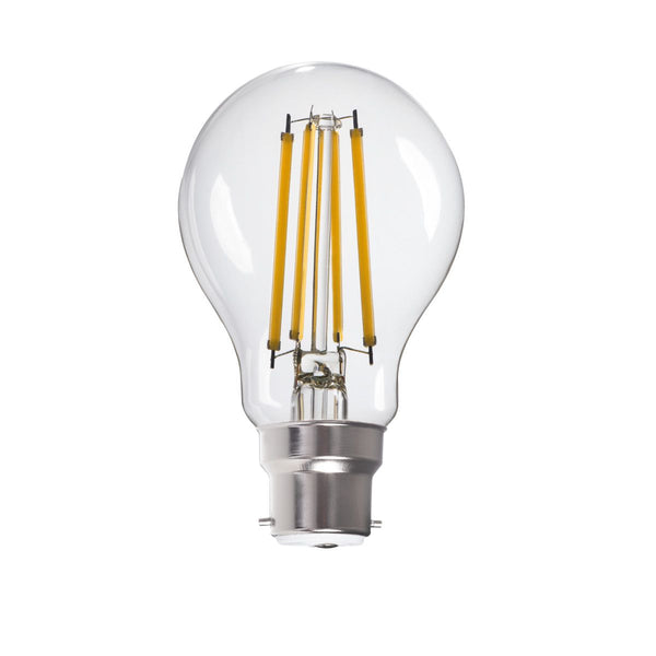 LED Leuchtmittel A60, transparent, warmweiß, 8W / B22 / 230V