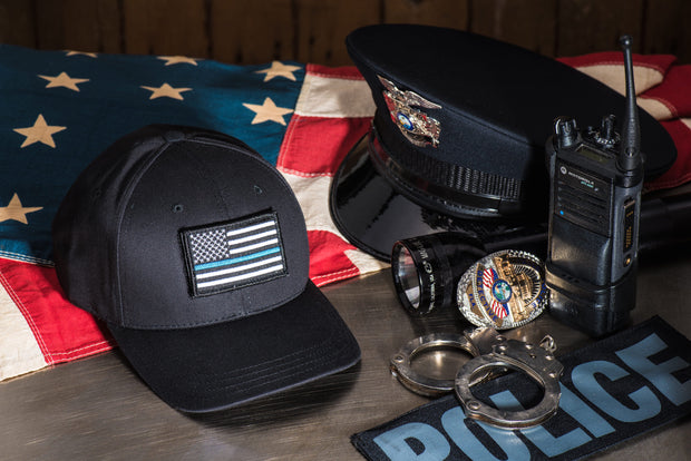 Thin Blue Line Cap (Black) 2