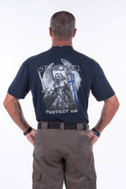 Police Thin Blue Line St. Michael T-Shirt