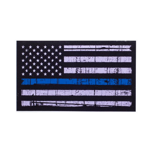 Thin Blue Line American Flag Decal Distressed