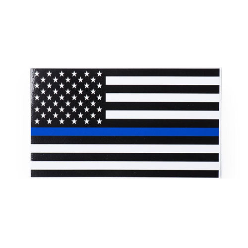 Thin Blue Line American Flag Decal Smooth