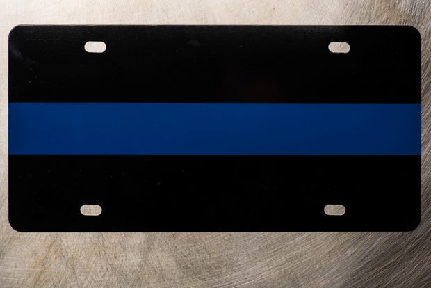 Thin Blue Line License Plate 1-edit