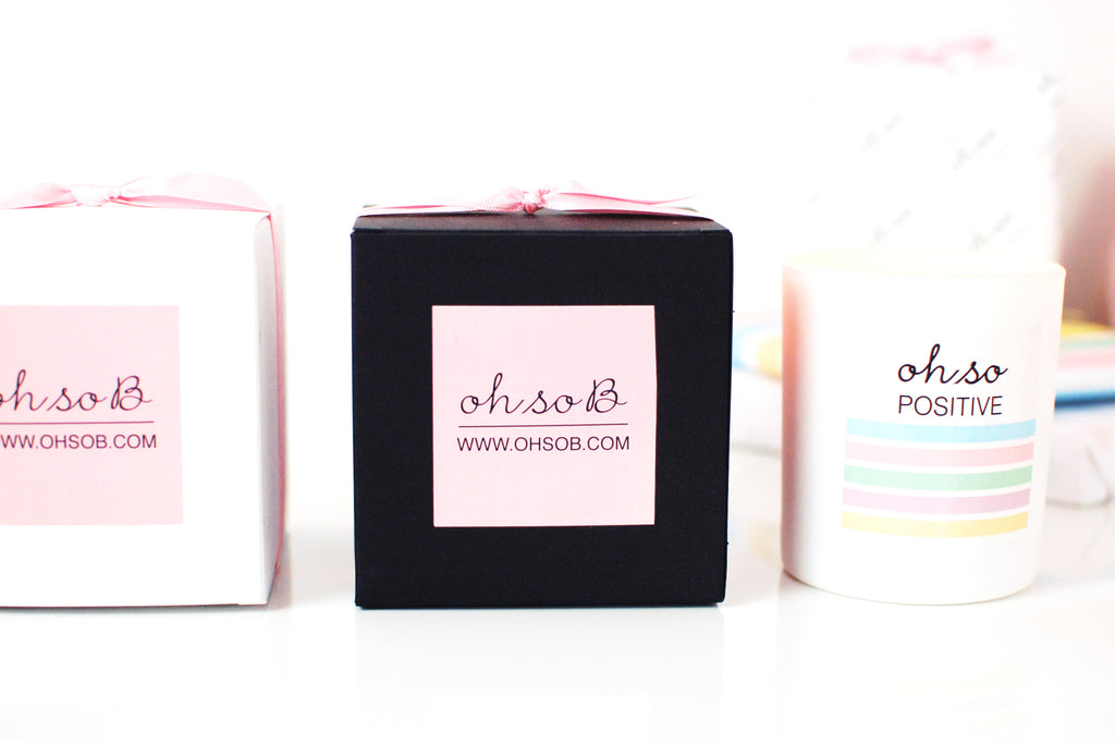LUXURY 100% SOY WAX CANDLE - OH SO POSITIVE