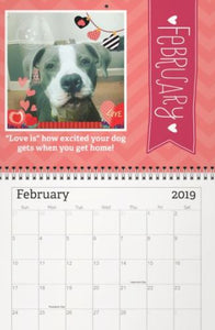 2019 Brody the Pit Bull Calendar