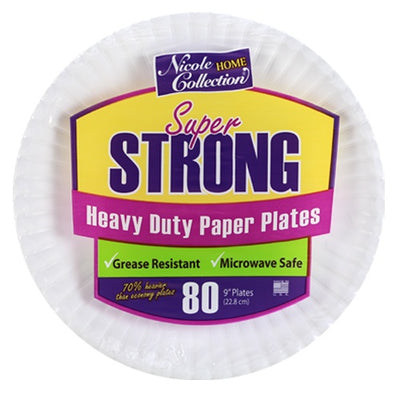 Paper Plate - White - Heavy Duty - 9 inch