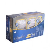 Cutlery Combination - Clear - 360 Count