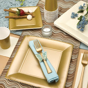 Paper Plate - Gold -  Square