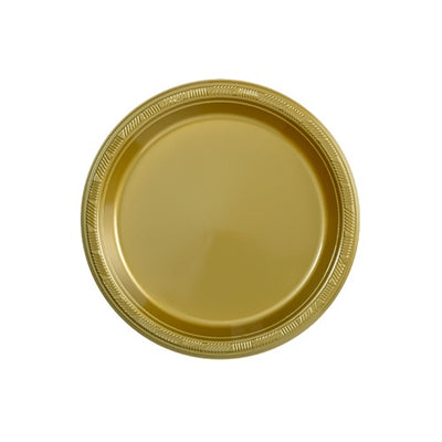 Plastic Plate - Hanna K. Signature - Gold - 7 inch