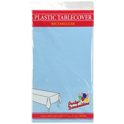Plastic Tablecover - Light Blue - 54
