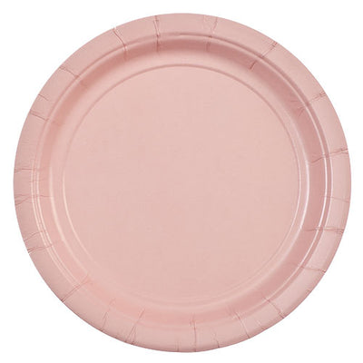 Paper Plate - Pink - 7 inch