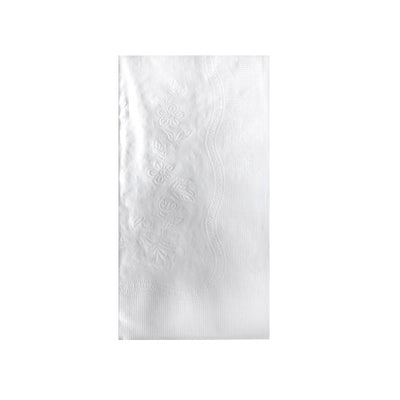 Dinner Napkin - 1/8 Fold - 2 Ply - White - 100 Count