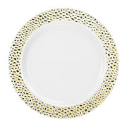 Plastic Plate - Pebbled Gold - 10.25 Inch