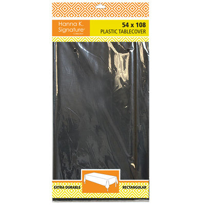 Plastic Tablecover - Black - 54