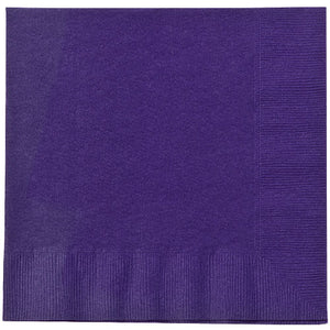 Lunch Napkin - Purple - 20 Count