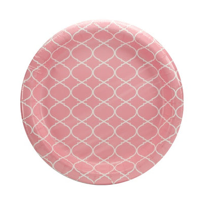 Paper Plate - Blush Lattice