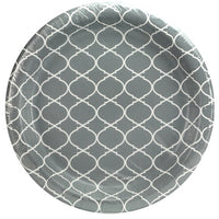 Paper Plate - Grey Lattice
