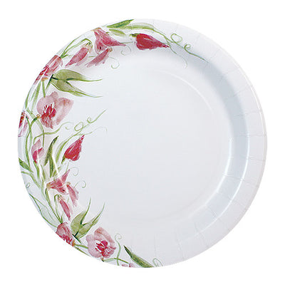 Paper Plate - Pink Floral- 7 inch