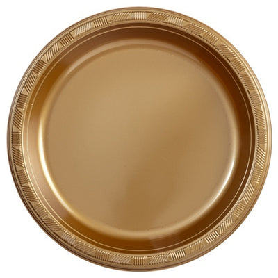 Plastic Plate - Hanna K. Signature - Gold - 10 inch