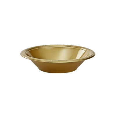 Plastic Bowl - Gold -  15 oz. - 50 count