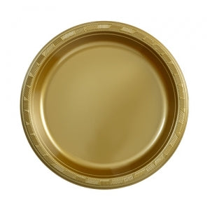 Plastic Plate - Hanna K. Signature - Gold - 9 inch