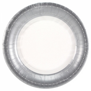 Paper Plate -  Silver Beaded