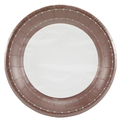 Paper Plate - Rose Gold Beaded - 7 inch