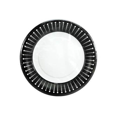 Paper Plate -  Black Décor