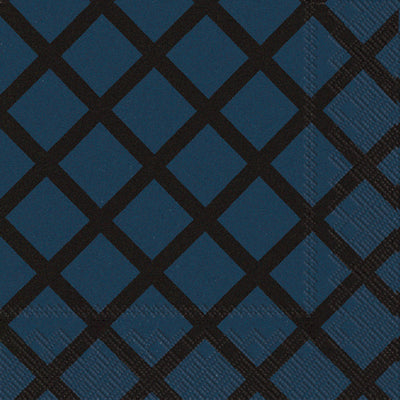 Beverage Napkin - Quilt Dark Blue - 20 Count